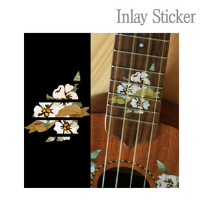 For Ukulele Hibiscus Fret markers-S (No.130) 악기 스티커